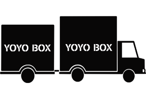Yoyo Box delivery truck with different sizes of boxes